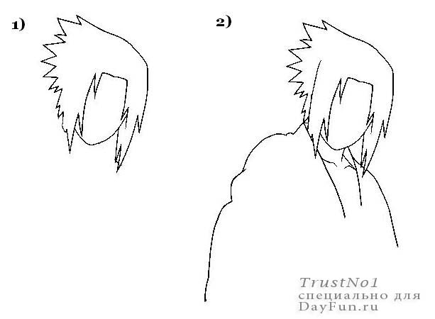 Drawing Smooth Lines Questions : How to draw sasuke step by arcmel