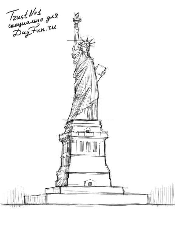 Statue of liberty head sketch templates for Statue of liberty drawing template